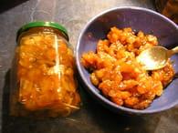 Chutney d'abricot : Etape 2