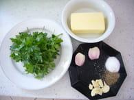Beurre d'escargot : Etape 1