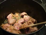 Ragoût de joue de porc aux légumes : Etape 1