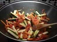 Wok de poulet aux légumes : Etape 2