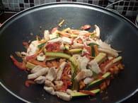 Wok de poulet aux légumes : Etape 3