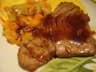 Recette de steak de thon grill et salsa de mangue la recette facile - Recette steak de thon grille ...