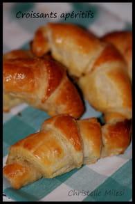 Croissants apéritifs : Etape 6