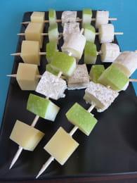 Brochette de fromage au pomme : Etape 1
