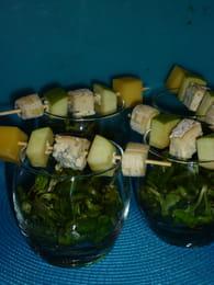 Brochette de fromage au pomme : Etape 2