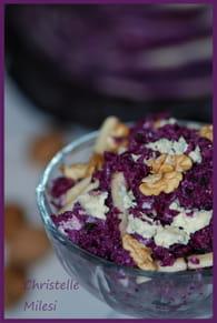 Salade de chou rouge, pommes, noix et roquefort : Etape 5