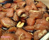Porc au caramel à l'ananas et riz thaï : Etape 1