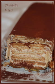 Gâteau aux biscuits thé brun de lu : Etape 4