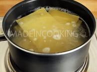 Lasagnes au saumon et aux épinards : Etape 1