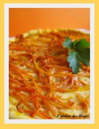 Tarte aux carottes gingembre, cumin et curcuma : Etape 4