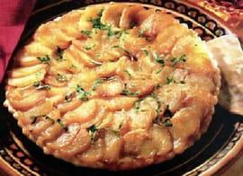 Tarte normande au camembert la recette facile - Recette tarte au pomme normande ...