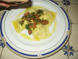Raviolis au saumon