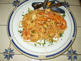 Spaghetti aux fruits de mer