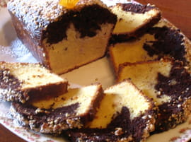 Cake � l orange et au chocolat