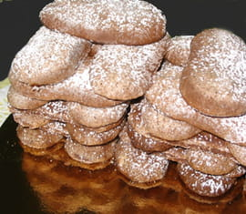 Biscuits � la cuill�re au chocolat