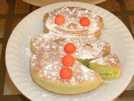 Halloween Party Gateau-orange-amandes