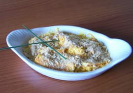 Gratin de crevettes aux carottes et surimi