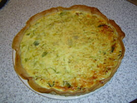 Quiche aux poireaux