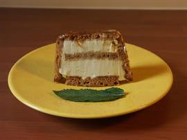 Charlotte de pain d'épice glacée à la vanille
