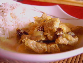 wok Curry-de-veau