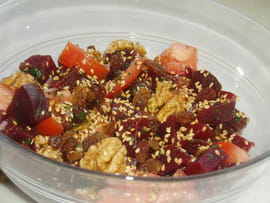 Betteraves rouges en salade