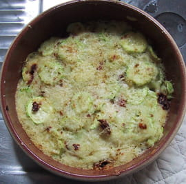 Gratin de courgette lger