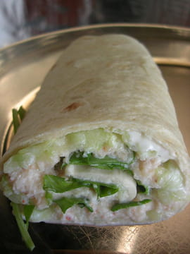 Wraps crabe-concombre