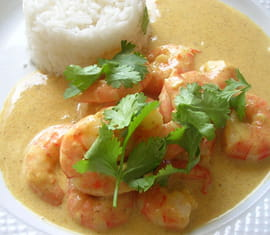 Curry indien de crevettes