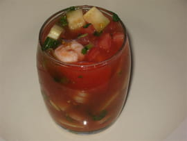 Coctel de camarones (cocktail de crevettes du Mexique)