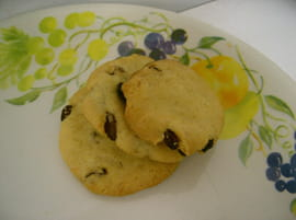 Cookies am�ricains aux raisins