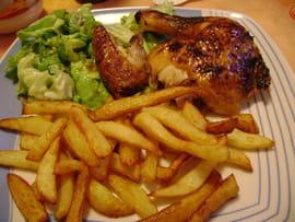 poulet moutarde miel et frites belges la recette facile. Black Bedroom Furniture Sets. Home Design Ideas