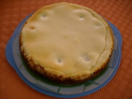 Cheesecake poire-chocolat blanc