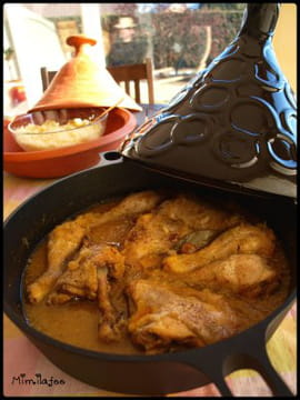 Tajine au poulet et oignons confits