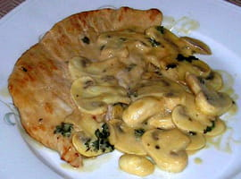 Escalopes de dinde � la normande