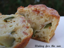 Muffins courgettes, jambon et cumin