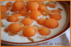 Melon au lait de coco