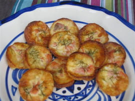 Mini quiches au saumon fum� et � l aneth