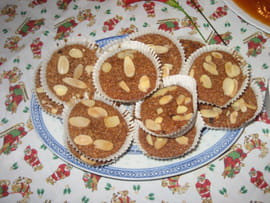 Gourmandises au chocolat et aux amandes