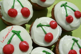 Cupcakes aux cerises, gla�age cheesecream