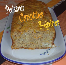 Cake au poisson, carottes et quatre-pices