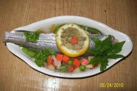 Merlan aux légumes au micro-ondes
