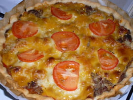 Tarte pizza-burger