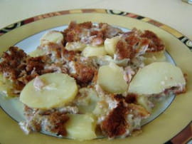Gratin d andouillettes aux pommes lyonnaises