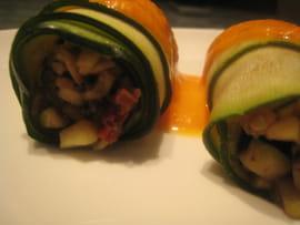 Cannellonis de courgettes olives-tomates séchées