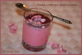 Panna cotta aux pralines roses
