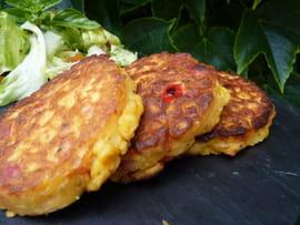 Galette maïs-amande-poivrons