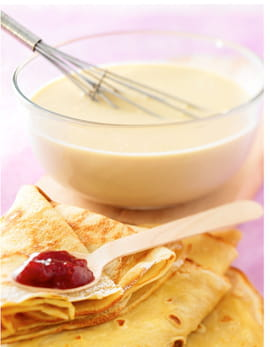 Pâte à crêpes sucrées ou salées
