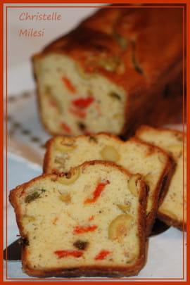 Cake Aux Olives Et Poivrons