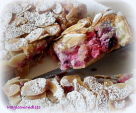 Tarte amandine aux baies rouges