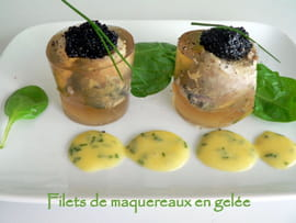 Filets de maquereaux en gel�e
